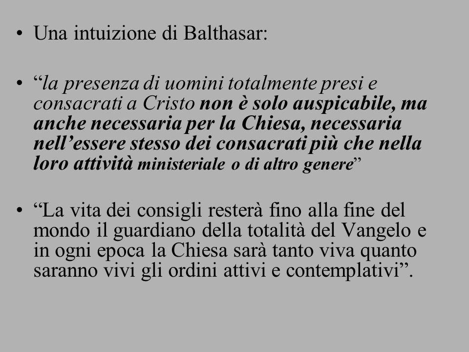 Una intuizione di Balthasar: