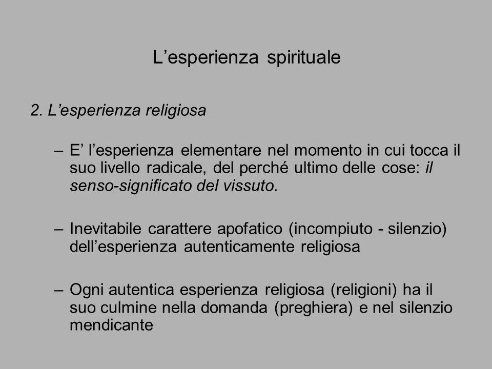 L'esperienza spirituale