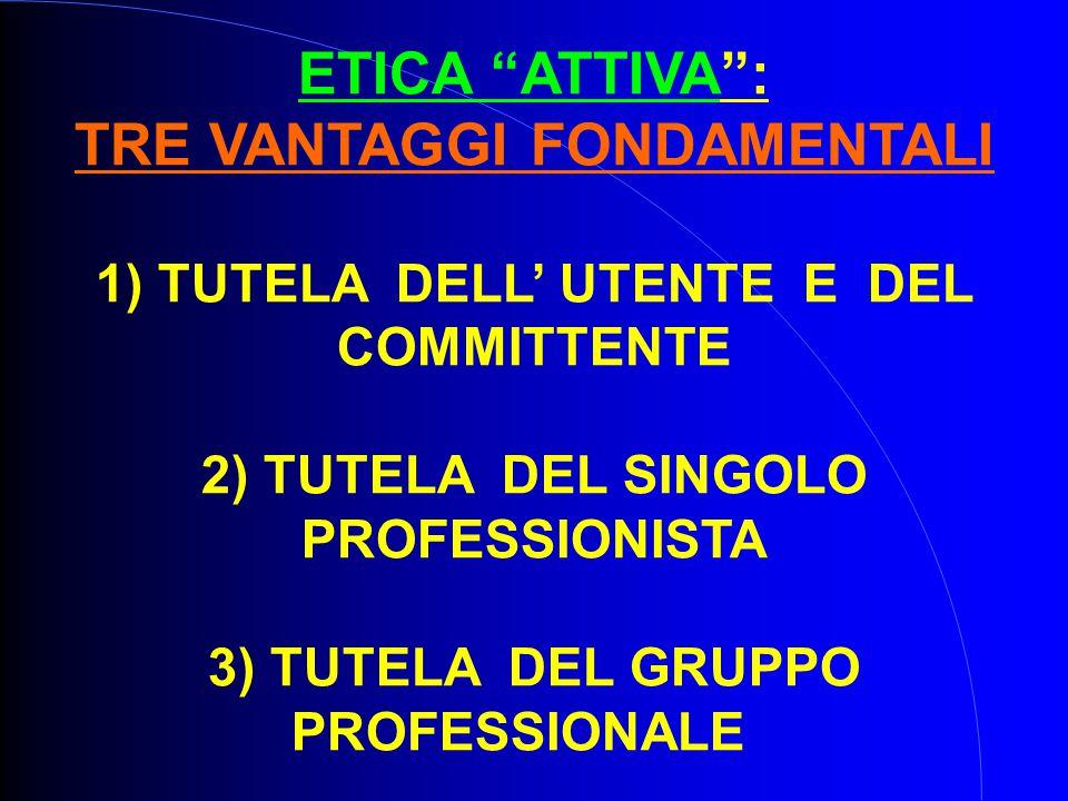 ETICA ATTIVA : TRE VANTAGGI FONDAMENTALI