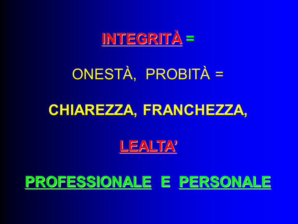 PROFESSIONALE E PERSONALE