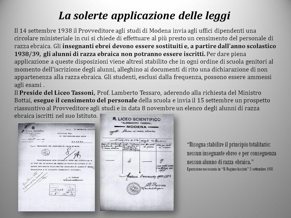 La solerte applicazione delle leggi