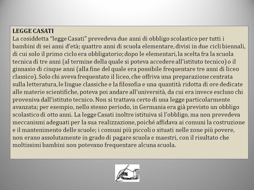 LEGGE CASATI