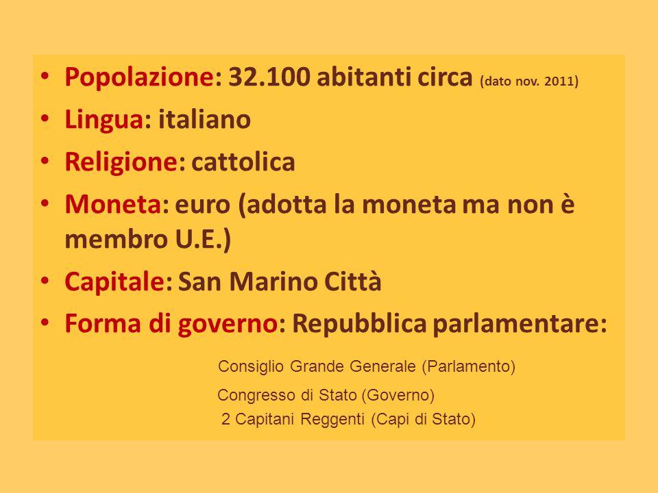 Popolazione: 32.100 abitanti circa (dato nov. 2011) Lingua: italiano