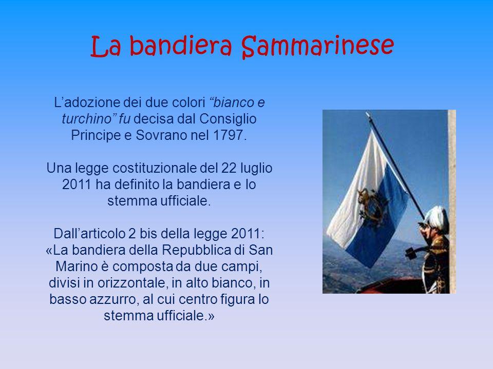 La bandiera Sammarinese