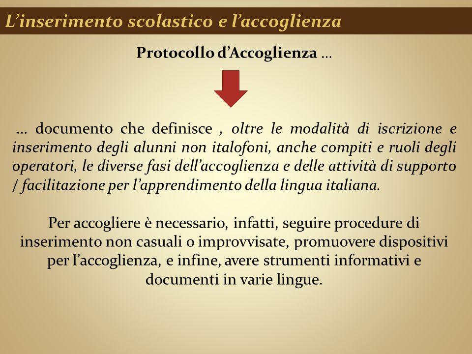 Protocollo d'Accoglienza …