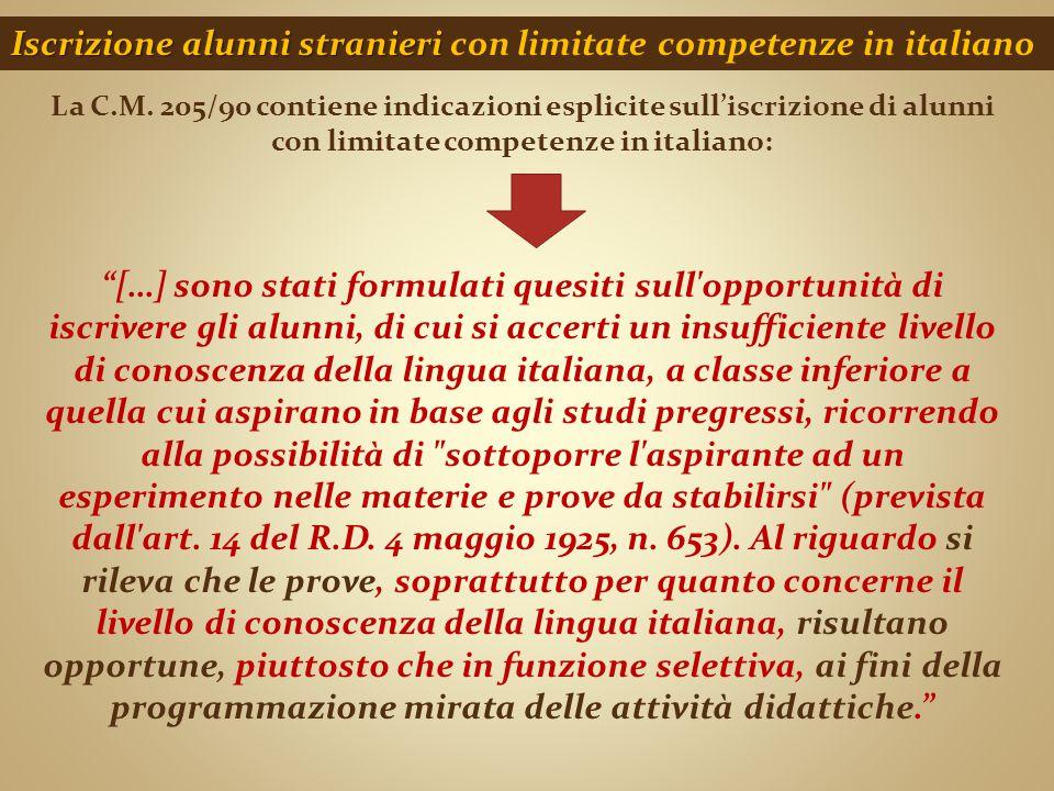 Iscrizione alunni stranieri con limitate competenze in italiano