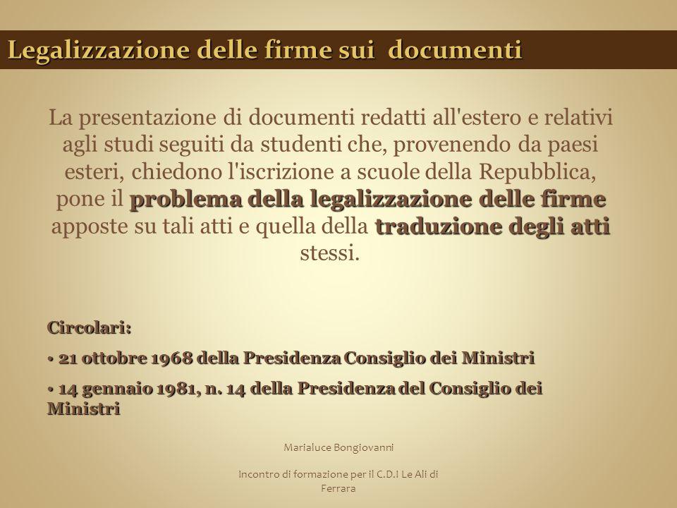 Legalizzazione delle firme sui documenti
