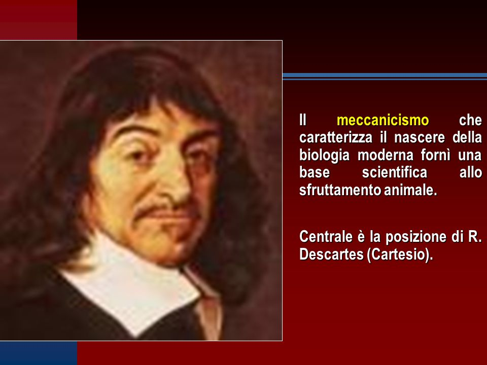 Il meccanicismo che caratterizza il nascere della biologia moderna fornì una base scientifica allo sfruttamento animale.