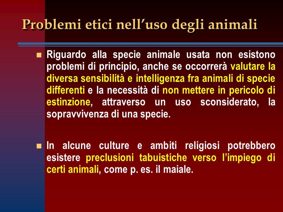 Problemi etici nell'uso degli animali