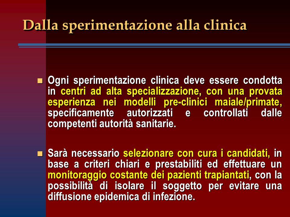 Dalla sperimentazione alla clinica