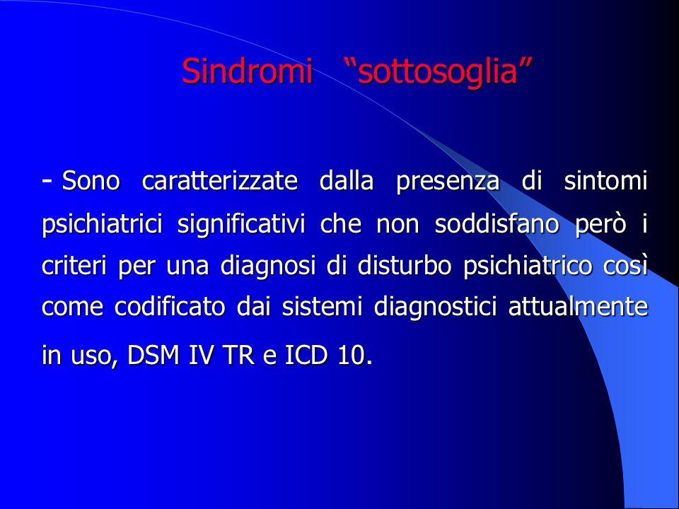 Sindromi sottosoglia