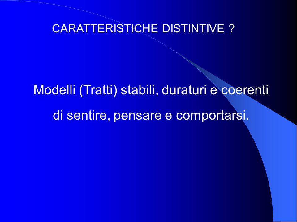 CARATTERISTICHE DISTINTIVE