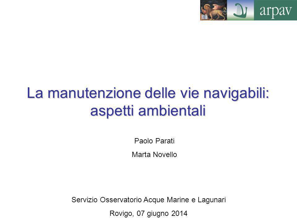 La manutenzione delle vie navigabili: aspetti ambientali