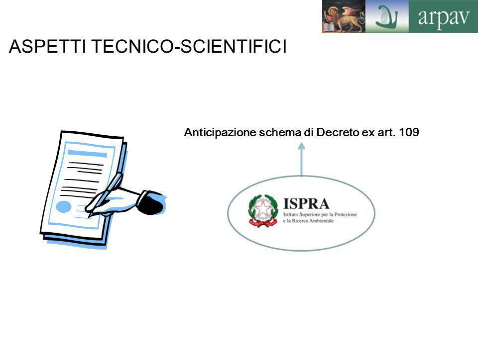 Anticipazione schema di Decreto ex art. 109
