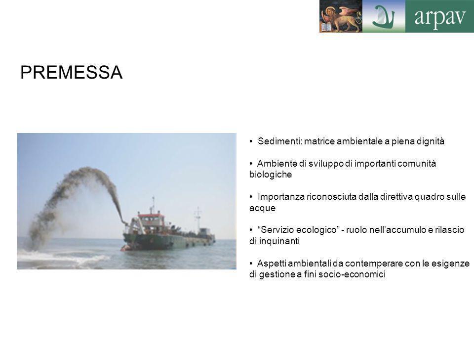 PREMESSA Sedimenti: matrice ambientale a piena dignità