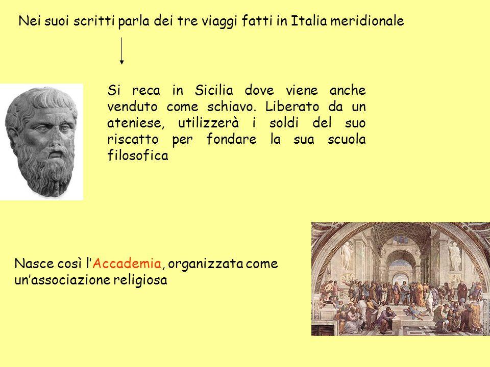 Nei suoi scritti parla dei tre viaggi fatti in Italia meridionale