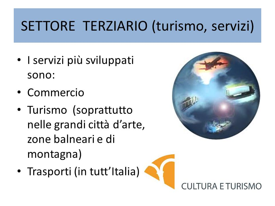 SETTORE TERZIARIO (turismo, servizi)