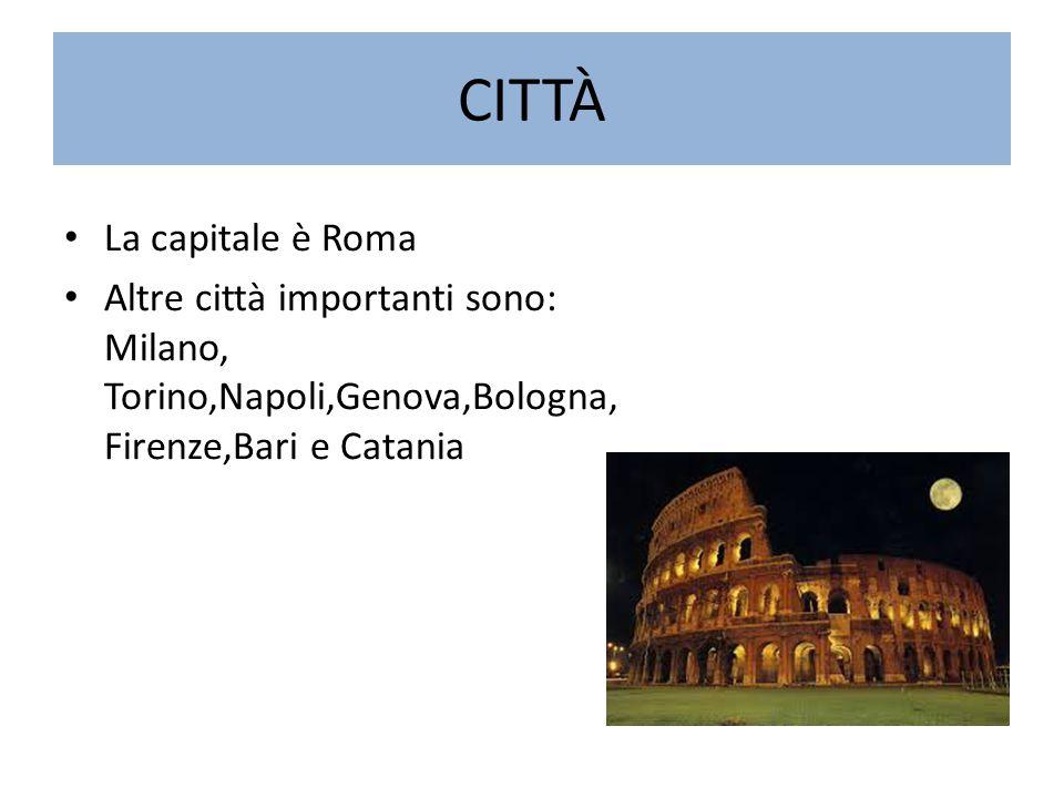 CITTÀ La capitale è Roma