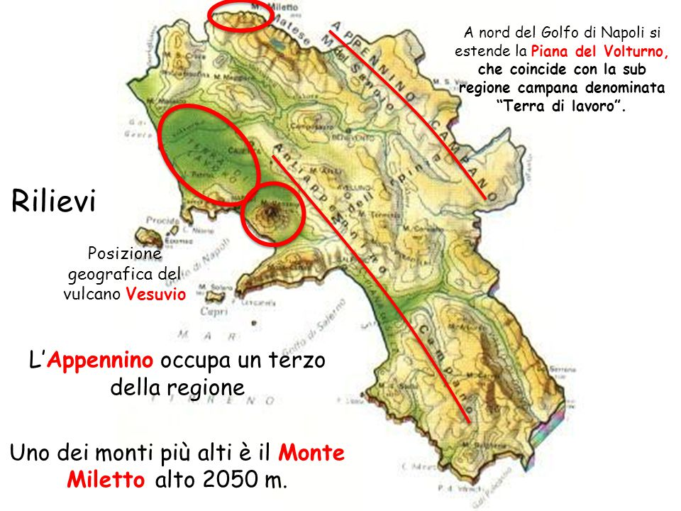 Posizione geografica del vulcano Vesuvio