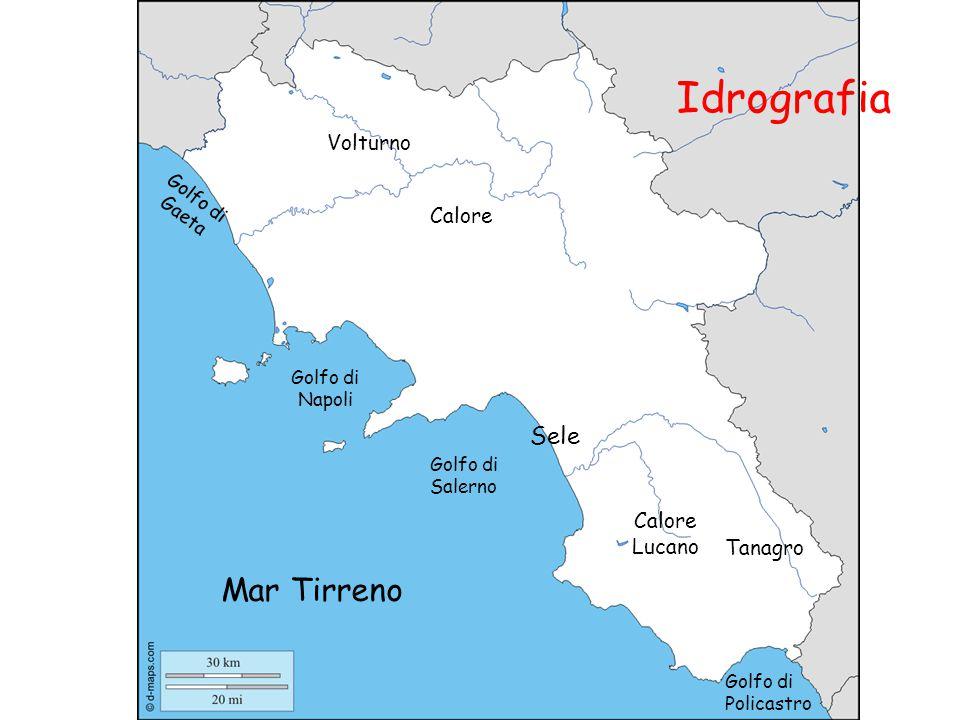 Idrografia Mar Tirreno Sele Volturno Calore Calore Lucano Tanagro