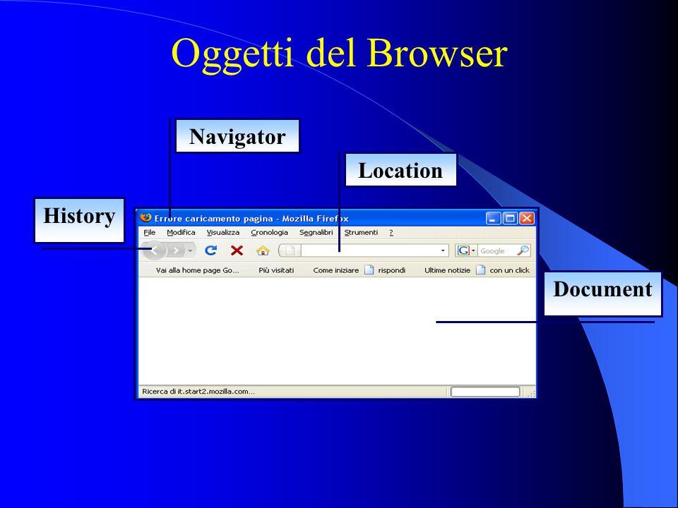 Oggetti del Browser Navigator Location History Document