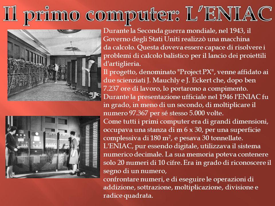 Il primo computer: L'ENIAC