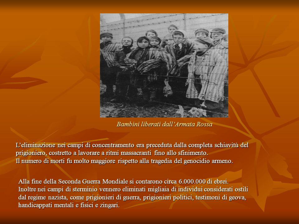 Bambini liberati dall'Armata Rossa