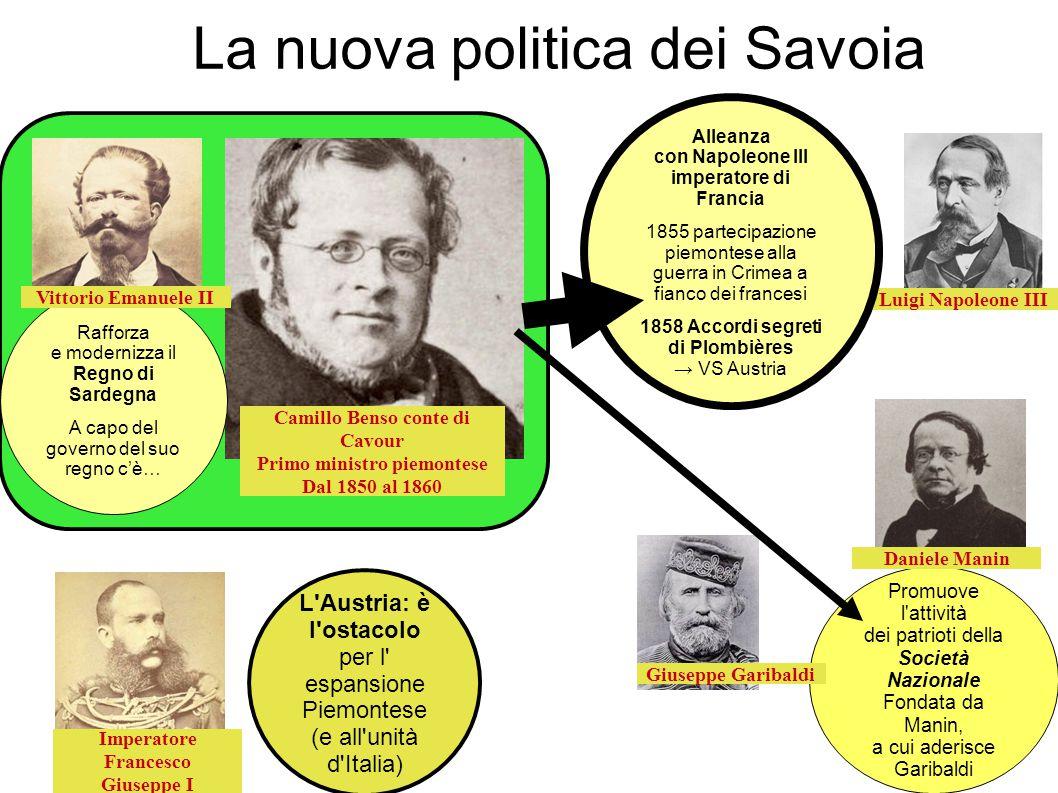 La nuova politica dei Savoia