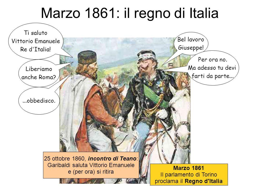 Marzo 1861: il regno di Italia