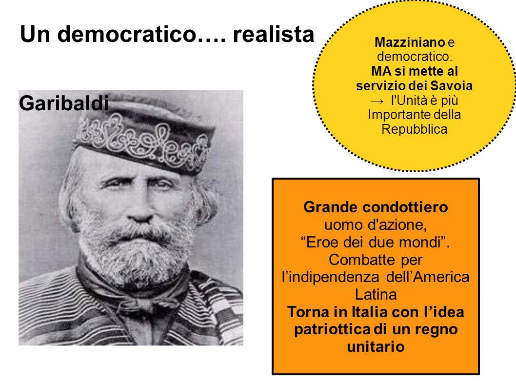 Torna in Italia con l'idea patriottica di un regno unitario