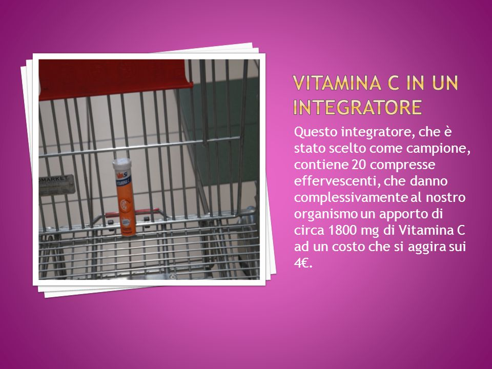 Vitamina C in un integratore