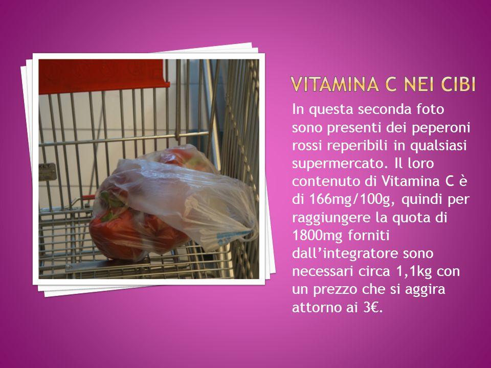 Vitamina C nei cibi