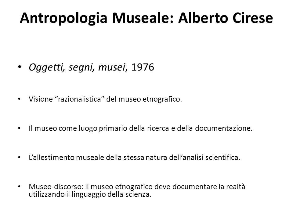 Antropologia Museale: Alberto Cirese