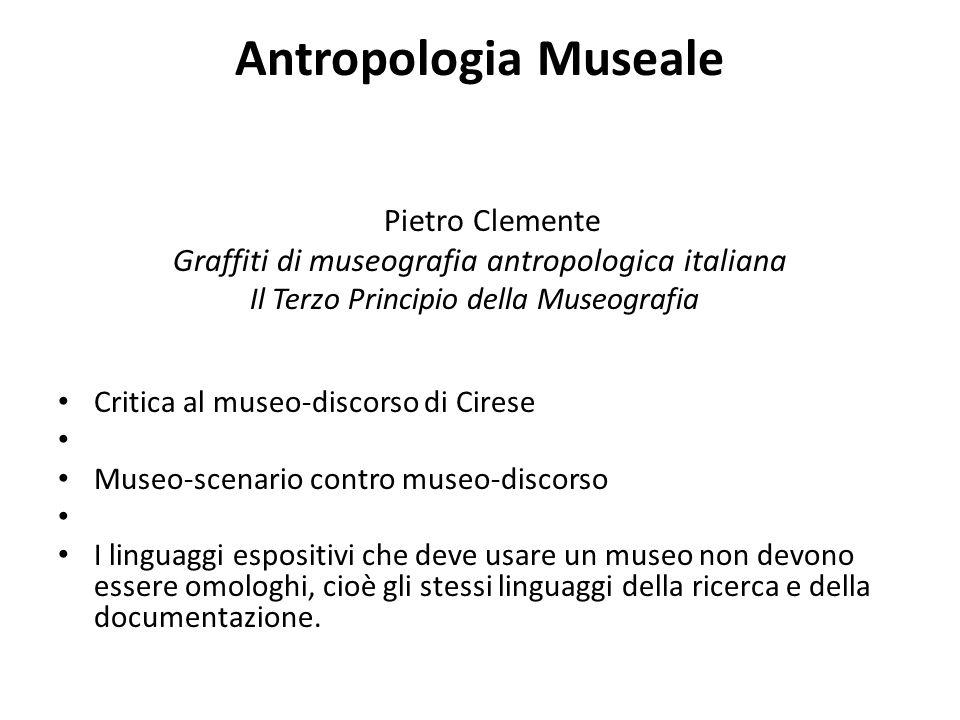 Antropologia Museale Graffiti di museografia antropologica italiana