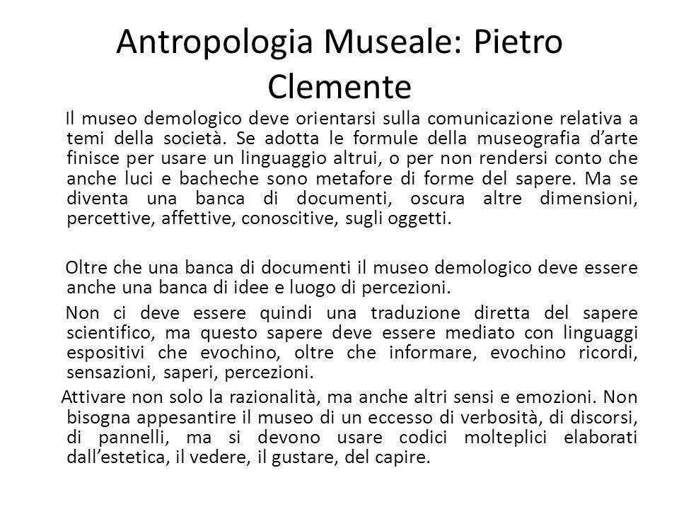 Antropologia Museale: Pietro Clemente