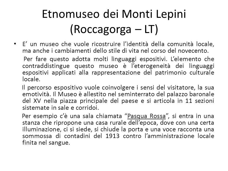 Etnomuseo dei Monti Lepini (Roccagorga – LT)