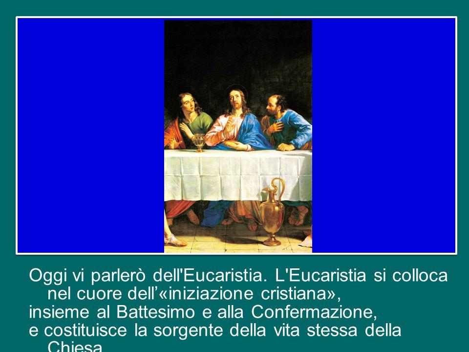Oggi vi parlerò dell Eucaristia