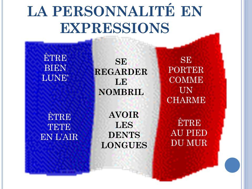 LA PERSONNALITÉ EN EXPRESSIONS