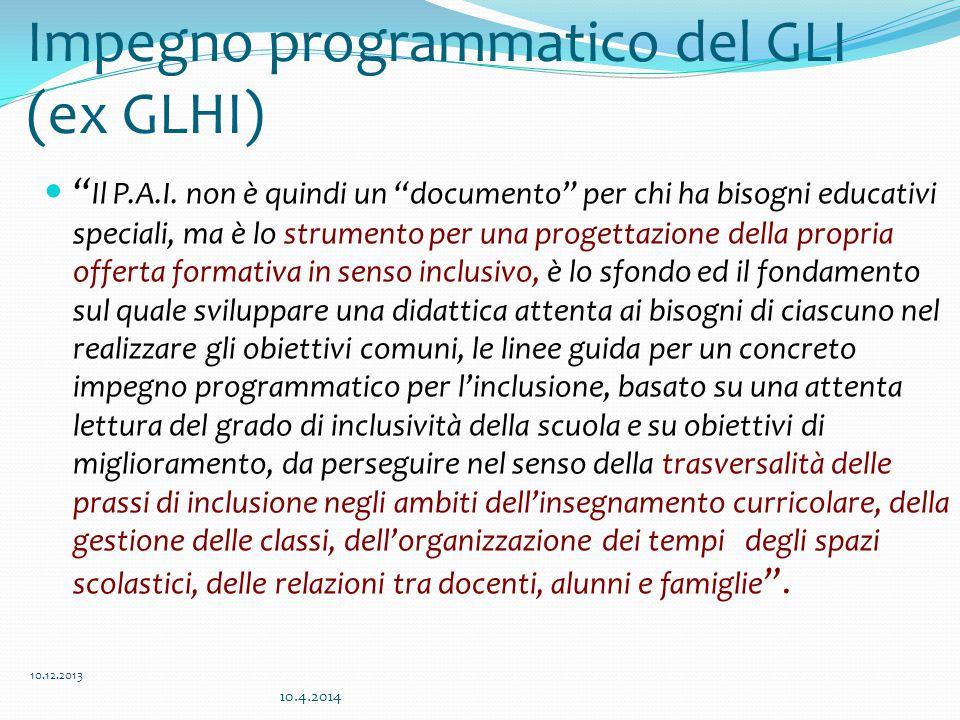 Impegno programmatico del GLI (ex GLHI)