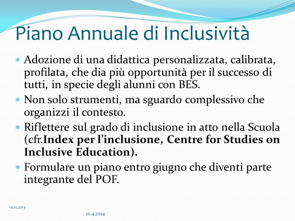 Piano Annuale di Inclusività