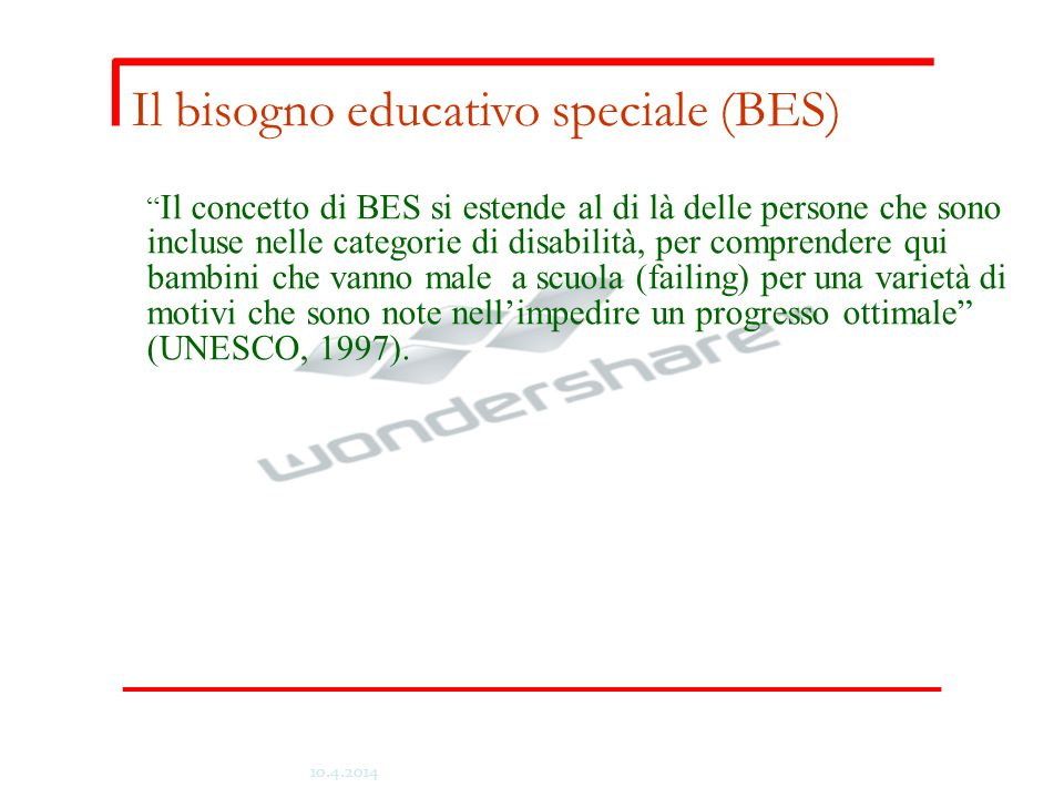 Il bisogno educativo speciale (BES)