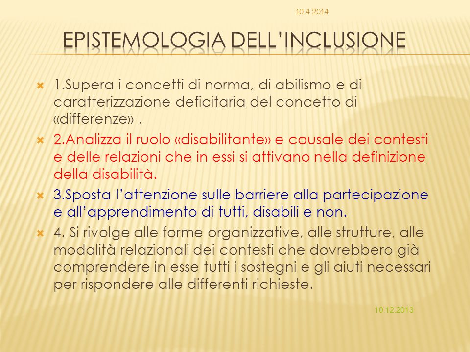 Epistemologia dell'inclusione
