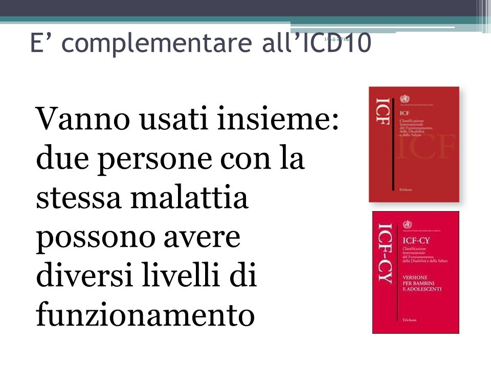 E' complementare all'ICD10