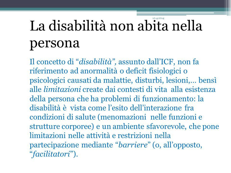 La disabilità non abita nella persona