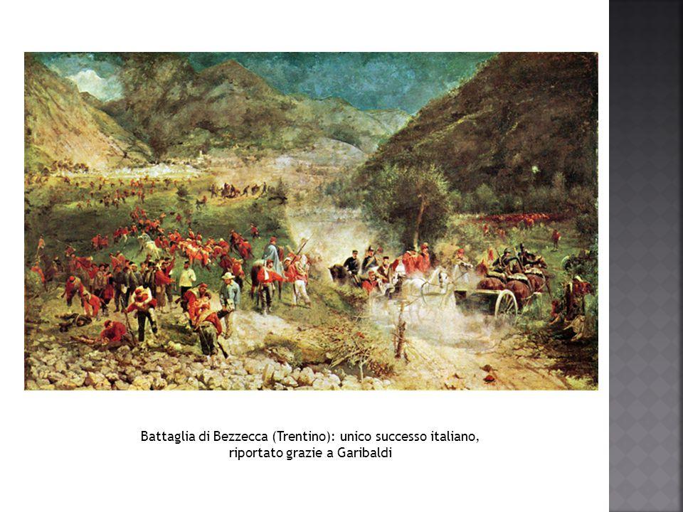 Battaglia di Bezzecca (Trentino): unico successo italiano,