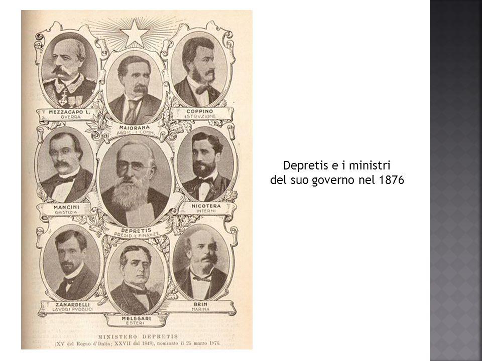 Depretis e i ministri del suo governo nel 1876