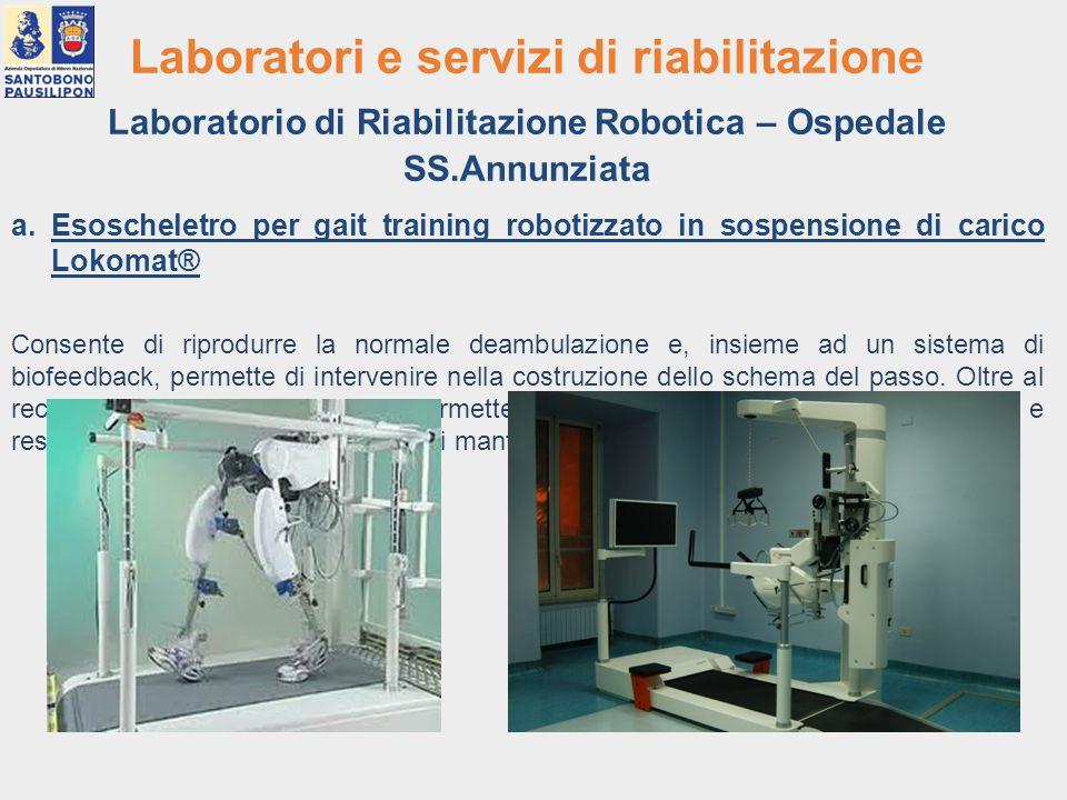 Laboratorio di Riabilitazione Robotica – Ospedale SS.Annunziata
