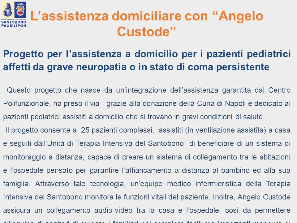 L'assistenza domiciliare con Angelo Custode