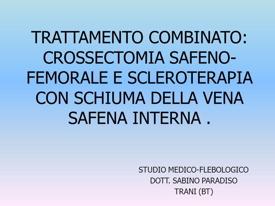 STUDIO MEDICO-FLEBOLOGICO DOTT. SABINO PARADISO TRANI (BT)