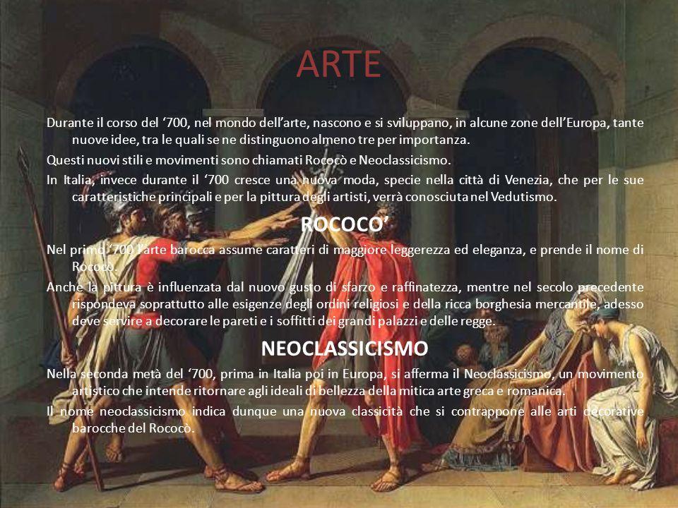 ARTE ROCOCO' NEOCLASSICISMO